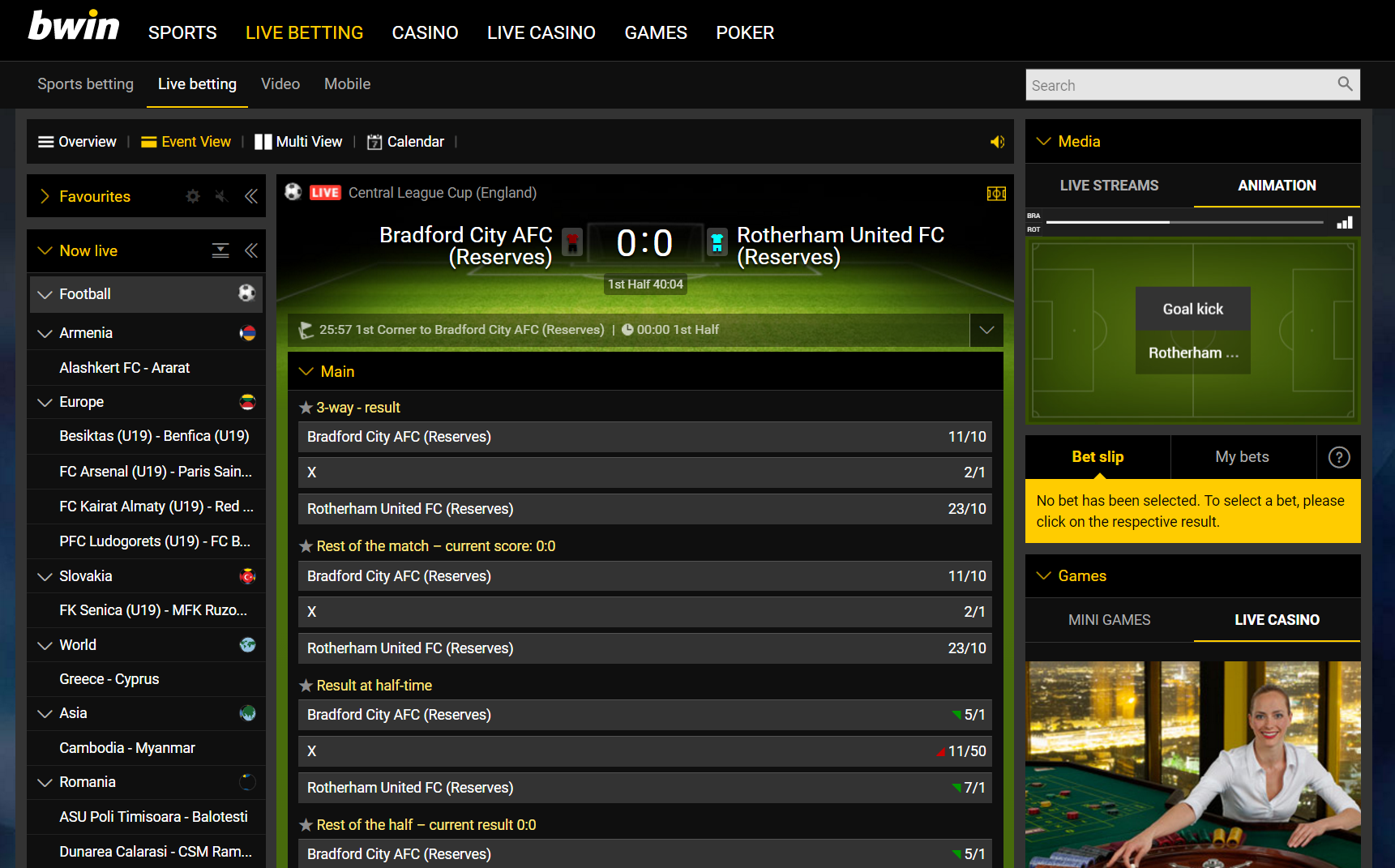 Bwin Betting